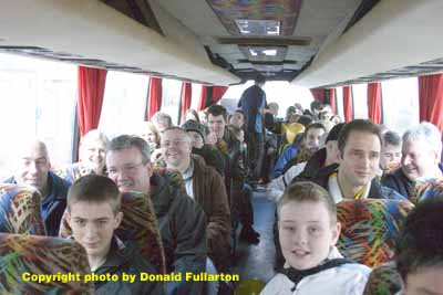 Fans on way to Celtic Park 2007