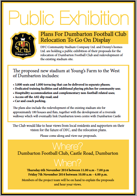 DFC Stadium Plans Display