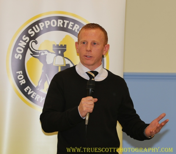 Manager Aitken responds to a question posed by a Dumbarton fan.