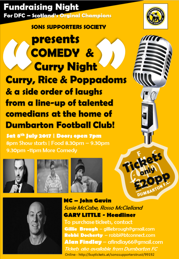 Curry Comedy Night Poster July 2017