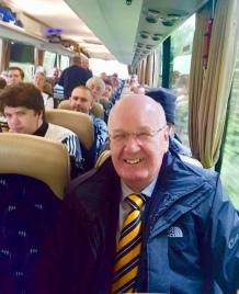 John Steele on the bus